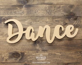 Dance Cutout Sign, Unfinished