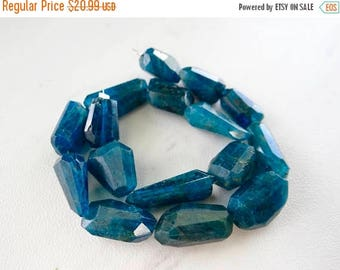 53% off Weekend Sale... Electric Apatite blue faceted nuggets/13x9-x19x8mm/5 inch strand