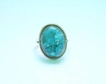 TURQUOISE STONE RING, Turquoise Ring, Turquoise Silver Ring, 92.5 sterling Silver Ring, Handmade Ring, Gypsy Ring ,  3