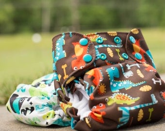 CHOOSE YOUR PRINT - Custom One Size All in One Cloth Diaper