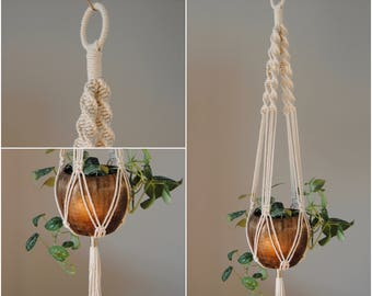 MEMONA Macramé Plant Hanger / Hanging Planter