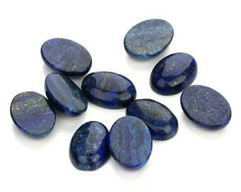 10 pic.natural Lapis Lazuli 10x14 mm oval shape cabochon with free shipping