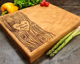 "Personalized Chopping Block 12x15x1.75"" - Engraved Butcher Block, Custom Chopping Block, Housewarming Gift, Wedding Gift #35"