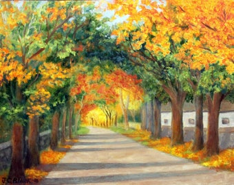 Oil Painting, Autumn Arch