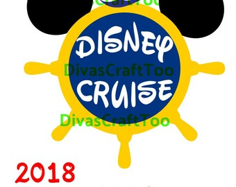 Disney Cruise Line With Wheel SVG