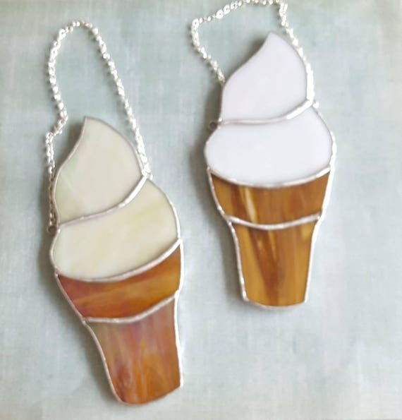 Stained Glass Soft Serve Ice Cream Cone