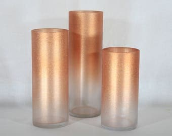 Copper Wedding, Copper Wedding Decor, Wedding Vases, Glitter Vase, Copper Decor, Glitter Vase Centerpiece, Wedding Vase Centerpiece, Glitter