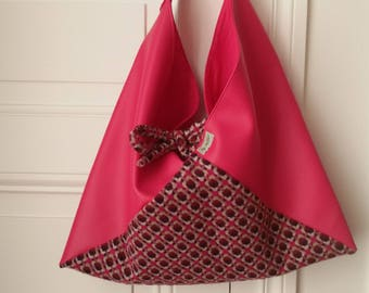 """Raspberry graphic"" origami bag"