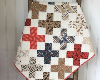 Lumberjack boy bedding Woodland baby quilt Adventure baby bedding Rustic baby quilt Tummy time playmat Baby shower gift X marks the spot