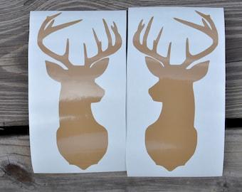 Deer Head Vinyl Stickers