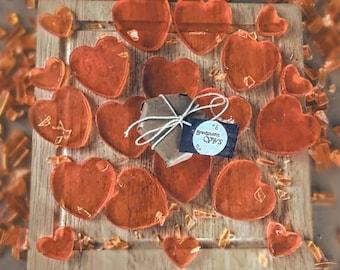 Individual Heart of Soaps (May Chang & orange Fragrance)