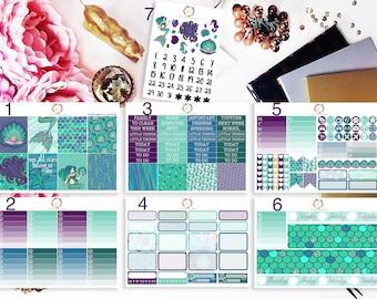 Mermaid Planner Kit, Mermaid Weekly Kit, Mermaid planner stickers, for use with Erin Condren