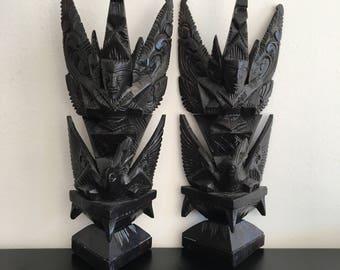 Vintage, Garuda Bird Sculpture, Carved Wooden Sculpture, Indonesian God, Indonesian Art,Tribal Art,Cultural Figure,Cultural Art, Home Decor
