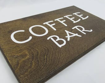 COFFEE BAR Wood Sign, Home Decor Coffee Bar, Breakfast Bar, Wooden Kitchen Sign, Coffee Lovers, Coffee Gifts, Coffee Wall Art