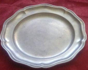 Fein Zinn German Antique Pewter Plate
