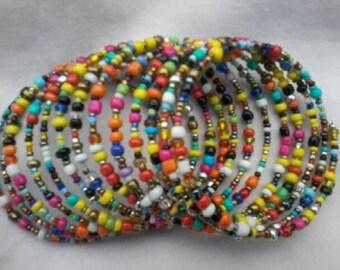 multicolored bracelet/spiral spring bracelet/african bracelet/handmade