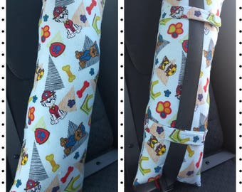 Seatbelt pillow,  Seat belt pillow, car pillow, travel pillow, kids car pillow, adults car pillow, Paw Patrol