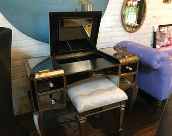 Vintage Vanity Set with Brand New Chair