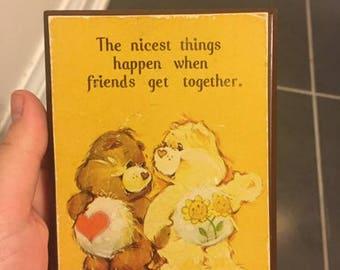 Vintage The Care Bears Mini Plaque