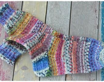 Dicke handgestrickte Socken Gr.36/37 aus OPAL Sockengarn, 6fach, warm, weich und kuschelig