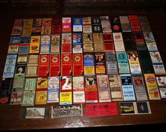 Lot of 60 Vintage Matchbook Covers Most Wisconsin Beer Bar Taverns Gas & Oil Stations Others 200.00+ Value