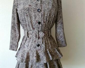 Perceptions Petite Vintage Dress with Belt