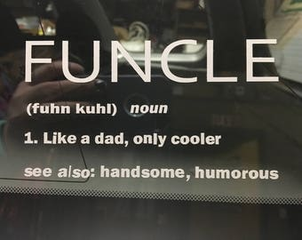 Funcle Decal