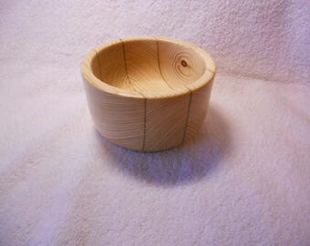 Bowl - Hand turned wooden bowl made  from 2 x 4