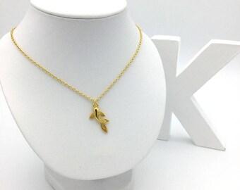 24 K Gold Koi Carp fish necklace