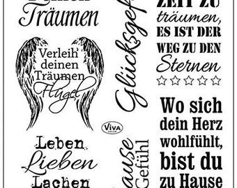 VIVA decor clear stamp - SAYINGS -, silicone stamp