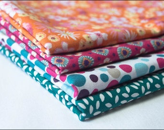 Set of 4 Coupons 50 x 50 fabric 100% cotton OekoTex