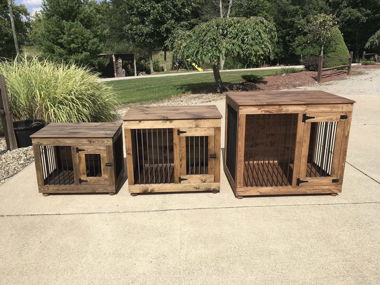 Single Door Dog Kennel custom dog furniture dog crate