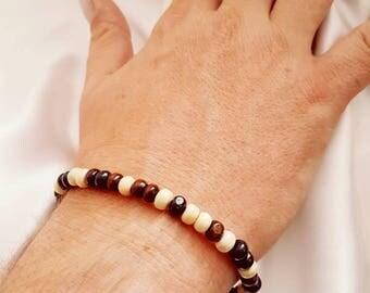 Men's handmade bead surfer bracelet