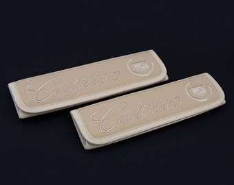 Cadillac - 2 pcs. Car Seat Belt Shoulder. Car Seat Strap Covers, Padded Strap Covers, Reversible Strap Covers.