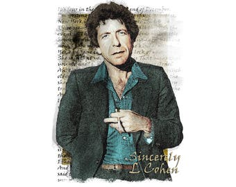 T-SHIRT: Leonard Cohen / Famous Blue Raincoat - Classic T-Shirt & Ladies Fitted Tee - (LazyCarrot)