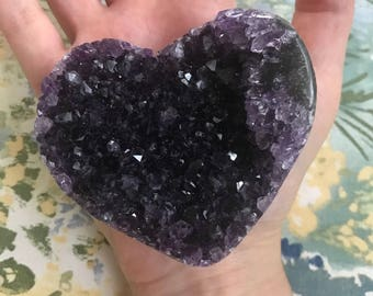 Grape Jelly Amethyst Heart