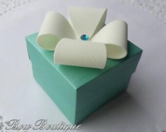 Tiffany blue favor box - elegant bonbonniere - blue gift box - elegant wedding favor box - tiffany blue welcome box - wedding bonbonniere