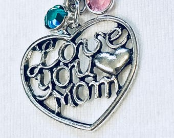 I Love You Mom, I Love You Mom Keychain, Mom Gift, Mom Keychain, Gifts For Her, Wife GIft, Mom Christmas Gift, Mothers Day Gift, I Love You