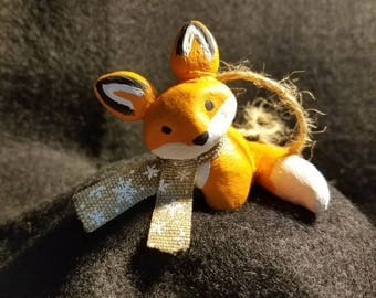 Holiday Fox Ornament
