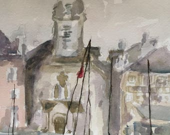 Honfleur France original watercolor