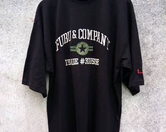 RARE! FUBU Embroidery Big Logo T-SHIRT
