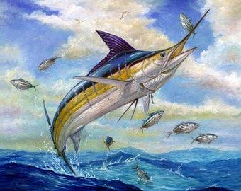 Marlin Jump Cross Stitch Pattern***LOOK***