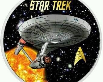 Star Trek Sun USS. ENTERPRISE Cross Stitch Pattern***LOOK***