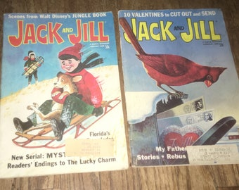 Sale! Vintage 1968 Jack and Jill Children's Magazine Lot - 2 Issues