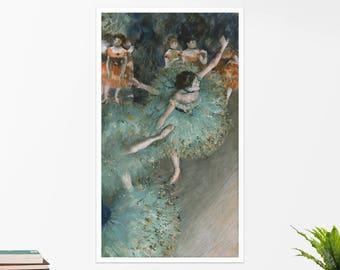 """Edgar Degas, """"The Green Dancers"""". Art poster, art print, rolled canvas, art canvas, wall art, wall decor"""