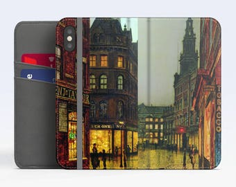 "John Grimshaw, ""Boar Lane, Leeds"". iPhone X Wallet case iPhone 8 Wallet case  iPhone 7 Plus Wallet case. Samsung Wallet cases."