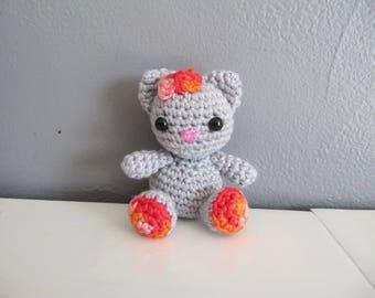 Crochet cat key ring