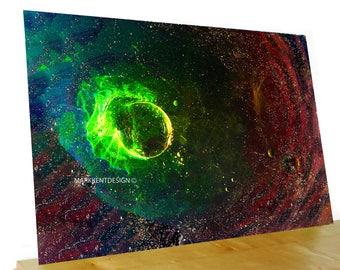 Space Poster, Home Decor Art,  Digital photography Galaxy Poster, Abstract Outer Space Print, Constellation, Interior Design,