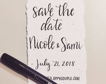 Plantable Save The Dates, Seed Paper Wedding