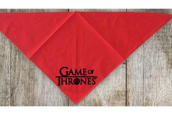 Game of Thrones GOT Pet Bandana Scarf Cat Dog Clothes Horror Halloween Accessories Merch Massacre